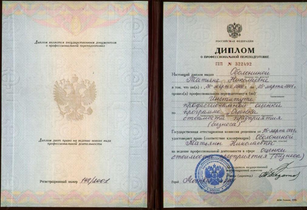 Документы фирмы и оценщиков ОФ СПЕКТР